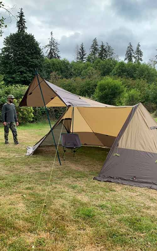 Twinpeak 5 Person Awning Tent With Stove Jack Quick Look Video Tent Cold Weather Camping Tent Awning