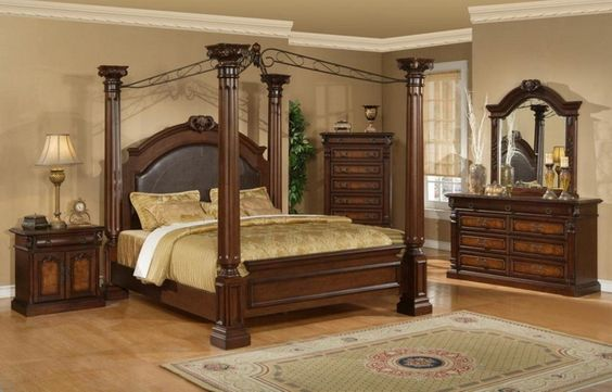Mollai Collection 6pc Bedroom Set With Warm Ash Veneers And Birch Solids Hand Carved Accents Queen King 1896 39 Sets Pinterest