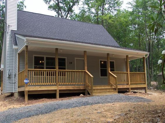 Small one story country homes small country house with for House with wrap around porch for sale