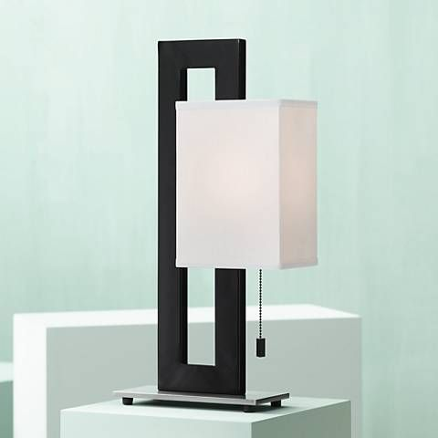 Floating Square Black Modern Table Lamp 84182 Lamps Plus Contemporary Table Lamps Modern Table Lamp Black Table Lamps