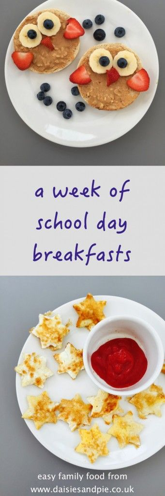 Easy school day breakfast ideas - these healthy breakfast recipes for kids are brilliant for school mornings when you want slow burning vitamin packed food before school. Our favourite is the wise owl toast!
