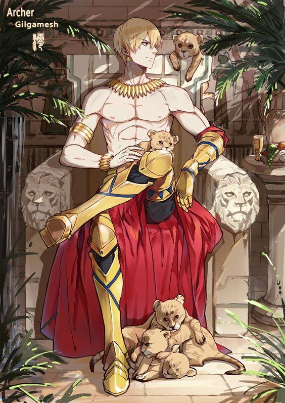チーターの子供とギルガメッシュ
