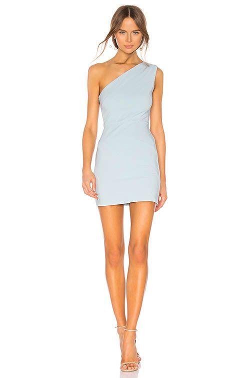 18++ One shoulder mini dress information
