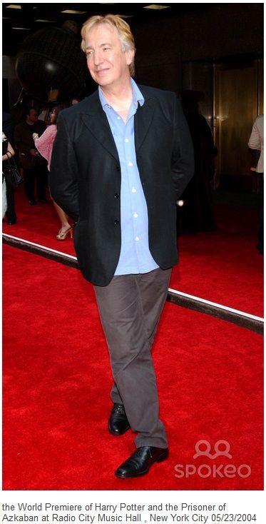 "Sunday, May 23, 2004 -- Alan Rickman at the ""Harry Potter and the Prisoner of Azkaban"" Premiere, Radio City Music Hall, NYC."