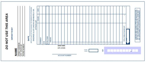 bank deposit slip Bank Deposit Slips Pinterest Bank deposit - pay slip download