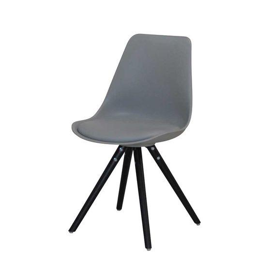 Esszimmerstuhl Braril in Grau Schwarz im Retro Design (4er Set)