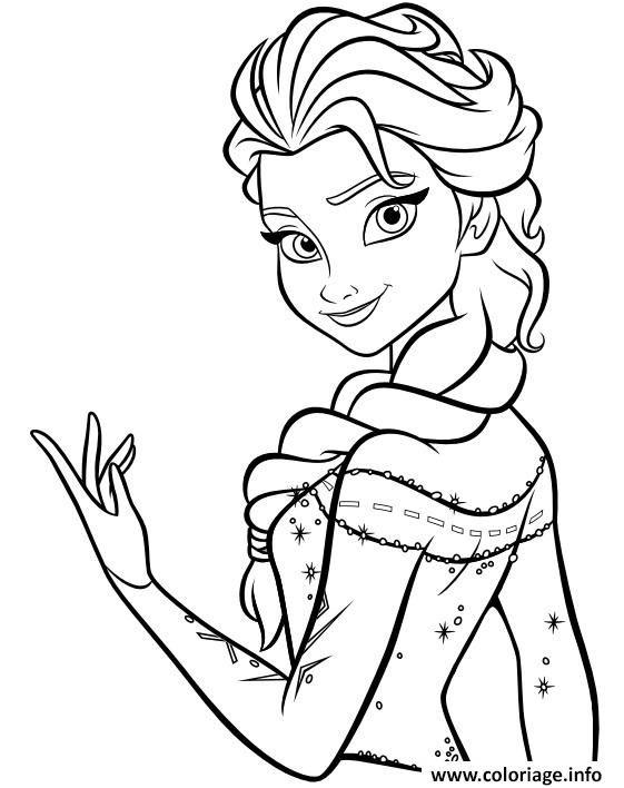 Princesse Disney Elsa Coloriage Elsa Coloring Pages Frozen