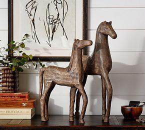 Wooden Horses #Pottery Barn
