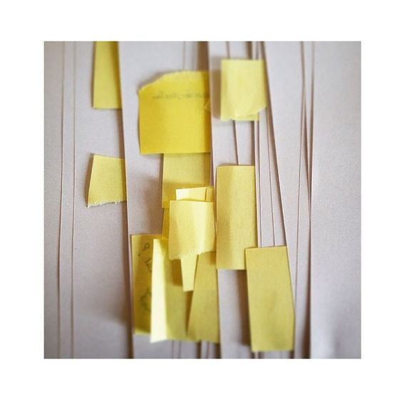 Round 1 of editing the next pej forecast for AW16/17 #pejtrend #pejforecast #pejgruppen #trend #forecast #editing #postit #pejproces