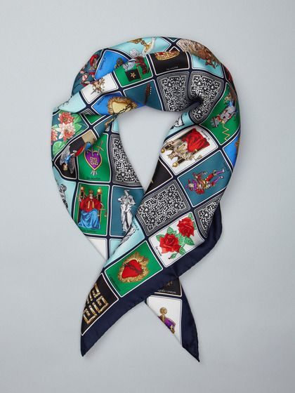 Tarot Card Silk Scarf by Givenchy on Gilt  Sold out! But I wish!