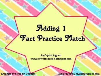 Fact Practice-Adding One  **Freebie**
