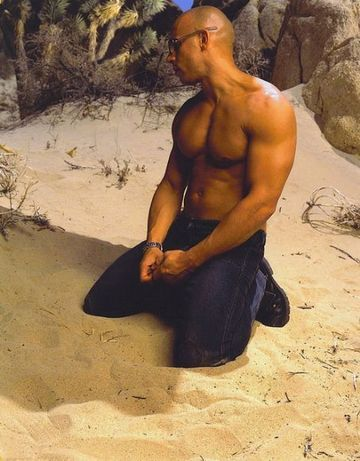Vin Diesel - I don't care how terrible of an actor he is...just turn down the volume and drool.