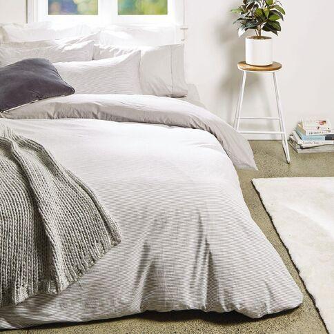 Living Co Duvet Cover Set Cotton Stripe Grey Duvet Cover Sets Affordable Duvet Cover Duvet Covers