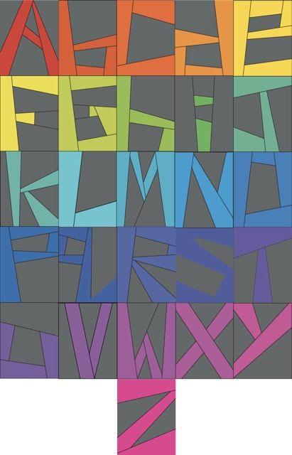 paper-pieced alphabet