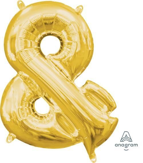"Letter /'M/' Gold 16/"" Minishape Air Fill Foil Balloon"