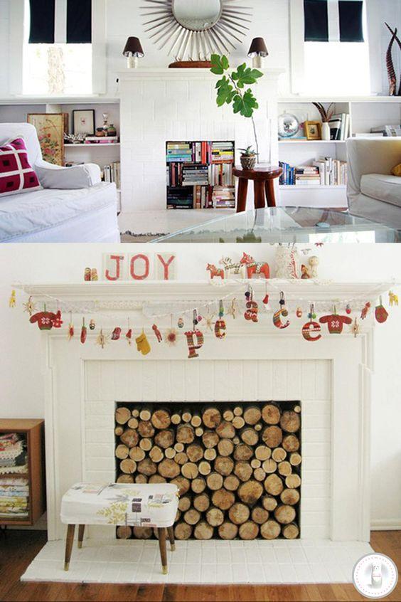 Ideas for non-working fireplaces #InteriorDecorInspiration #Fireplaces