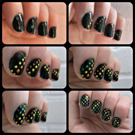 Disco nails! #diy #howto