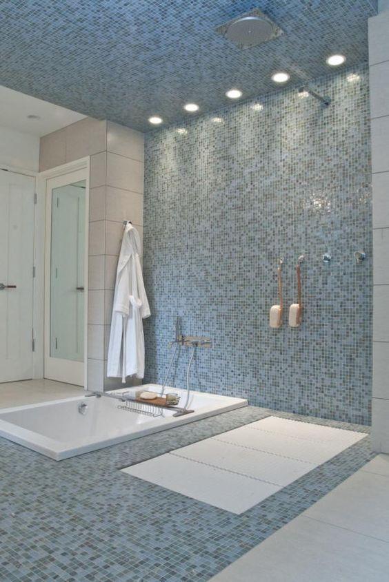 Curbless Shower Lacava Ceramic Stone Tile