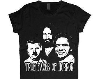 MENS / WOMENS True Faces of Horror T-Shirt / Womens Tank Top /  Womens V Necks /  Evil Men / Horror Shirt