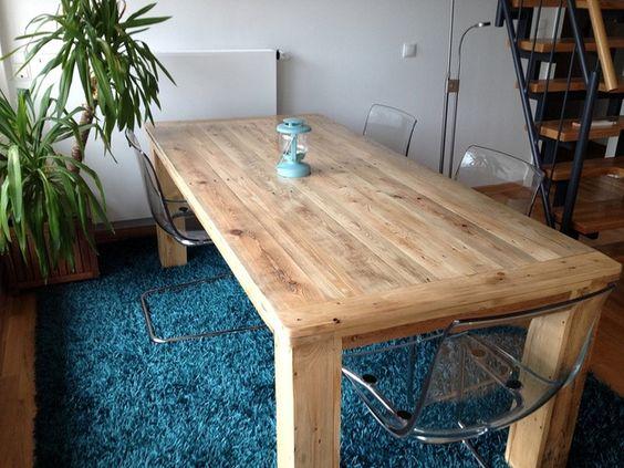 Esstische - Massiver Esstisch aus Palettenholz - ein Designerstück von atelier-schatztruhe bei DaWanda