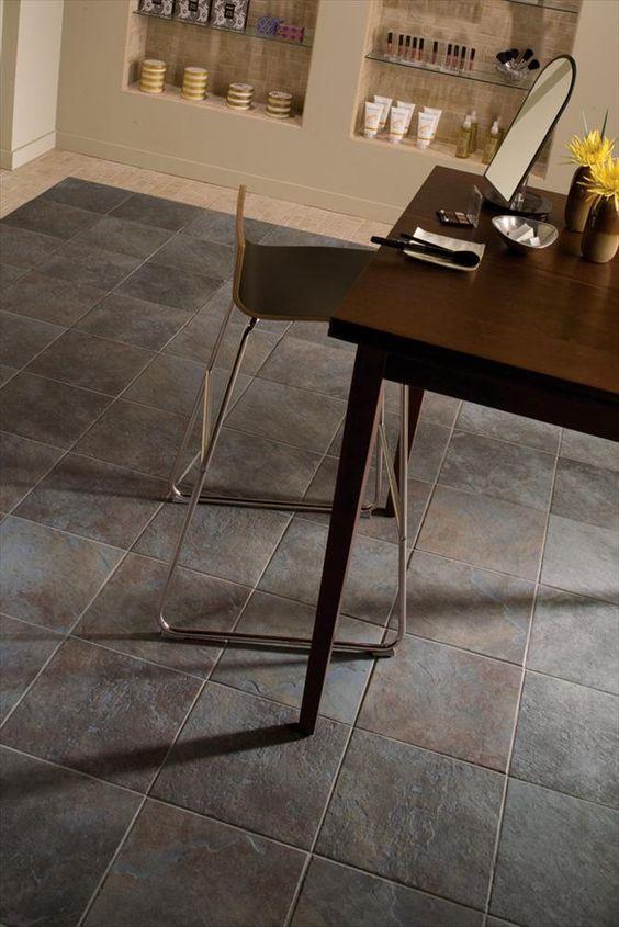 Porcelain Tile - Porcelain Tile Continental Slate Series Tuscan Blue, looks and feels like slate.  For bathroom floor