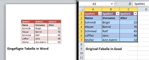 Excel Tabelle In Word Einfugen Buroorganisation Tipps Tipps Und Tricks Tabelle