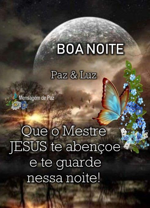 Que O Mestre Jesus Te Abencoe Boa Noite Com Paisagem Boa Noite