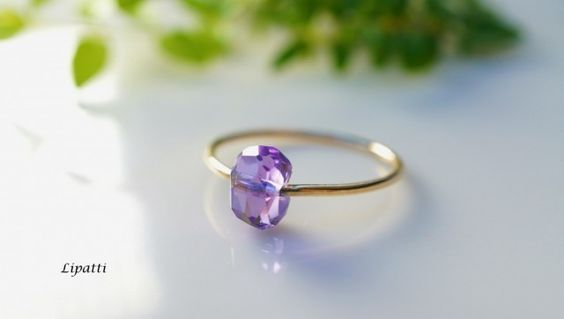 Amethyst is my birthstone.