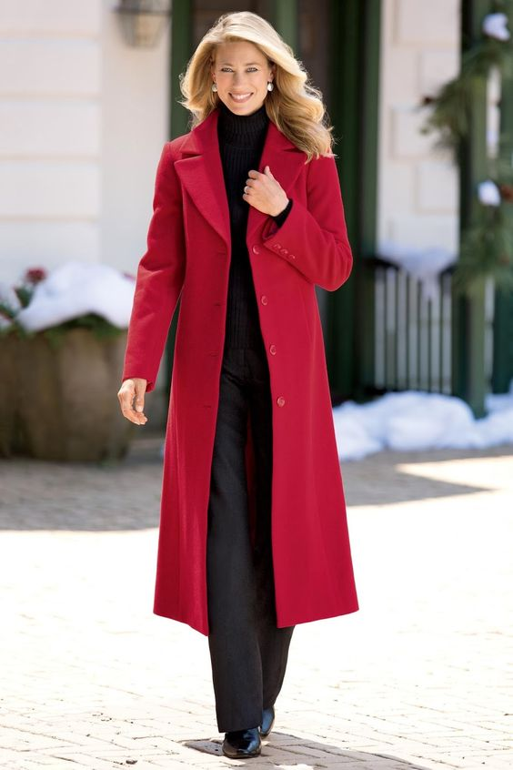 long red wool coats for women nation trendz | red color long wool