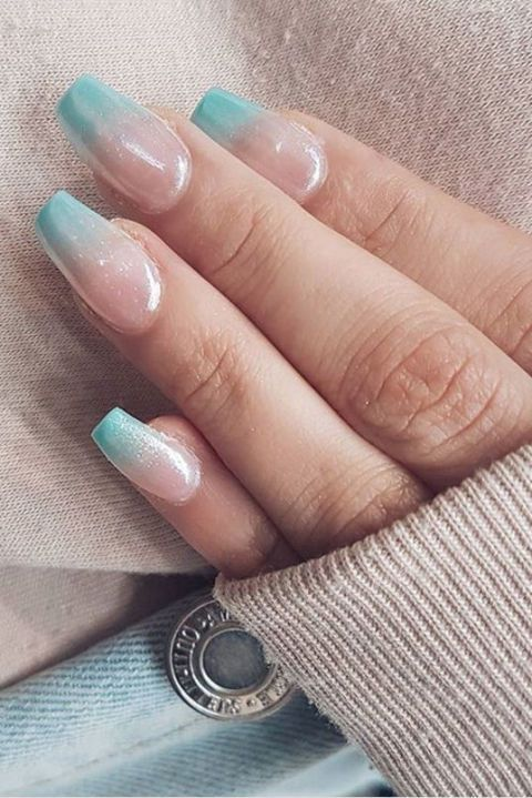 Chilly Perfect For Winter Ombre Nail Ideas Combination Options A