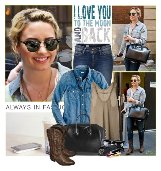 """Demi Lovato"" by ichliebedich22 ❤ liked on Polyvore featuring Arche, Tommy Hilfiger, J.Crew, Enza Costa, Givenchy, Ray-Ban, Chanel and DemiLovato"