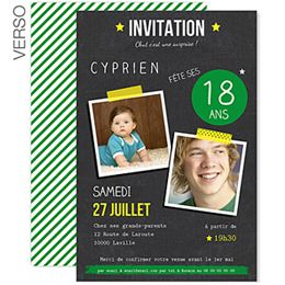 pop 18 votre ain f te ses 18ans cr ez une jolie invitation anniversaire avec vos photos. Black Bedroom Furniture Sets. Home Design Ideas