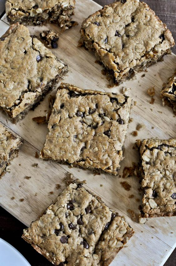 Oatmeal Peanut Butter Snack Squares | How Sweet It Is
