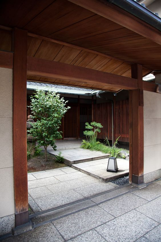 Japanese courtyard