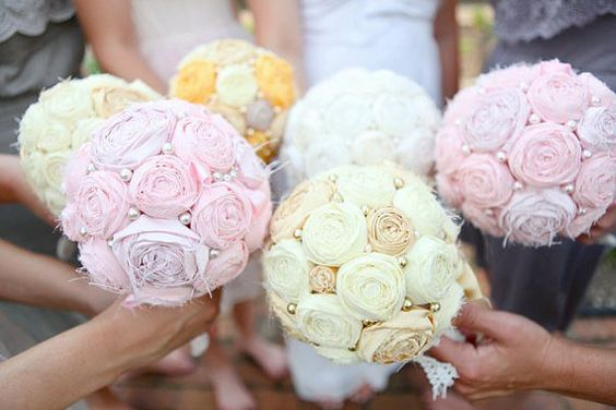 Fabric Bridal Bouquets