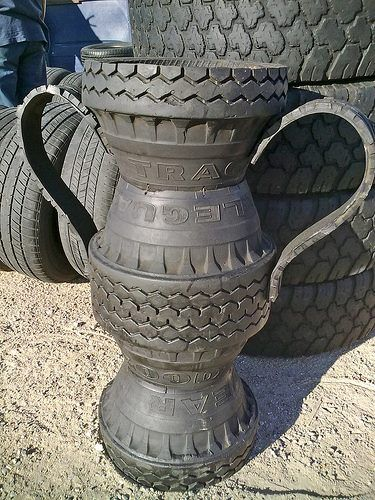 recycled tire urns