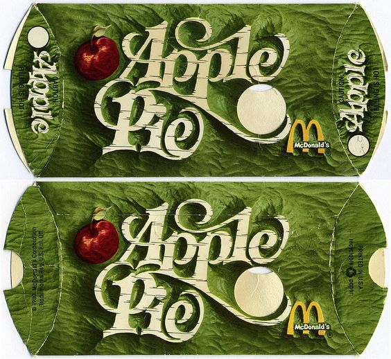 McDonalds - Apple Pie pack - 1980 by JasonLiebig, via Flickr