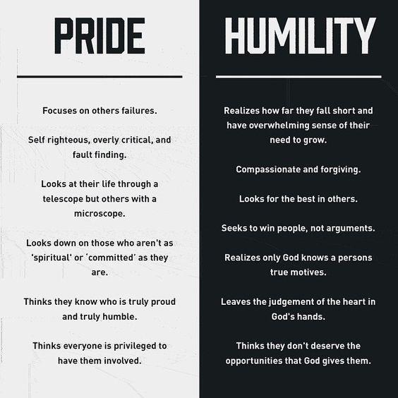 PRIDE// HUMILITY