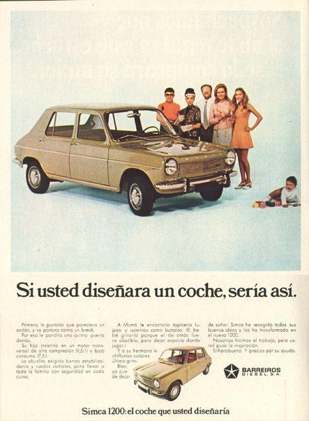 Simca 1200, anuncio 1969