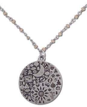 SoulFlower-Sun 'n' Moon Ying Yang Medallion-$22.00