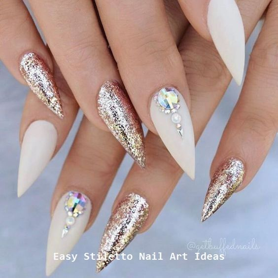 30 Great Stiletto Nail Art Design Ideas 2 Almond Acrylic Nails