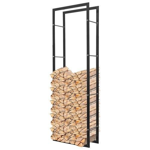 Tall Log Rack Holder Fireside Stand Storage Fireplace Wood