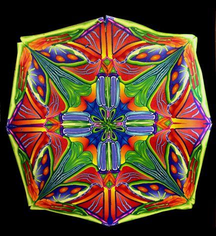 Kaleidoscope design by Christine Noble, Simmons Master Cane Workshop, Oct, 2014