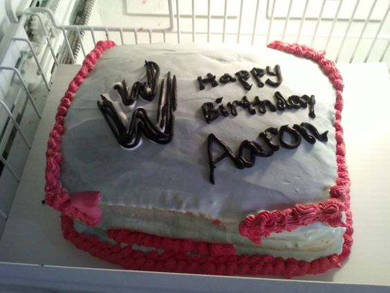 WWE Ice Cream Cake (Texas Heat melted my whip cream) If ya'll think 80/90degrees is hot, ya'll dont know South Texas Heat! #icecreamcake #wwe #smallfail