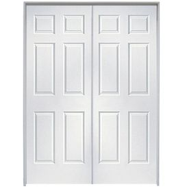 Reliabilt prehung hollow core 6 panel french interior door - 6 panel prehung interior double doors ...