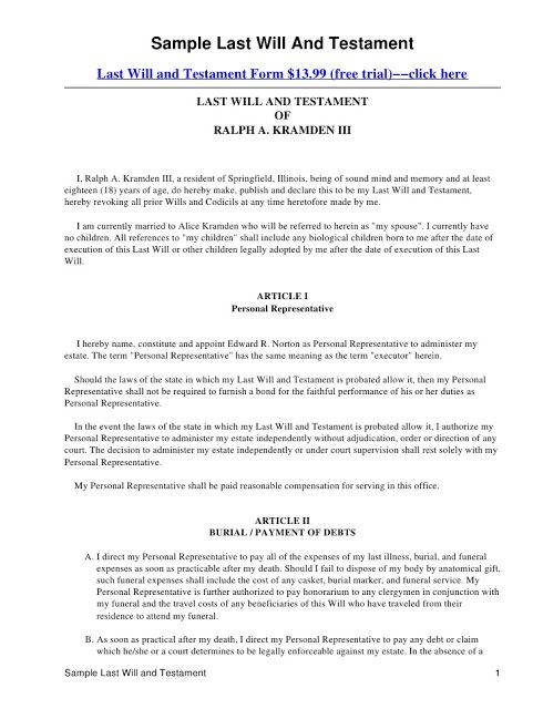 Last will and testament template Form Massachusetts Last will - employment separation agreement