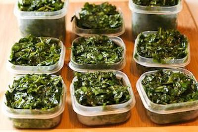 Freezing fresh basil for use in winter months...