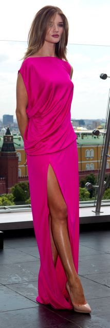 Absolutely gorgeous pink dress ♥ I think I could find some place to wear it. Love the simplicity at top - comfort too.: