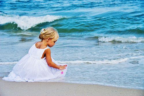 White dress on the beach