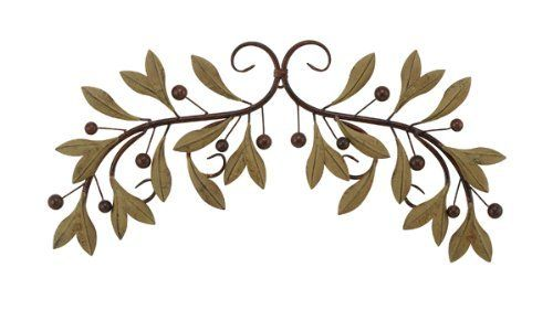 Olive branch metal wall decor